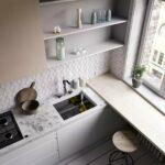 кухня маленькая с подоконником