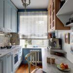 кухня маленькая белая двухрядная