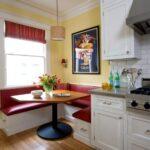 кухня маленькая с угловым диваном