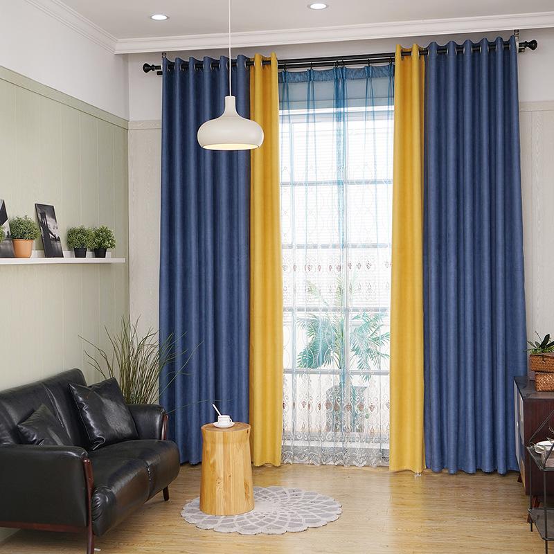 желто-голубые шторы