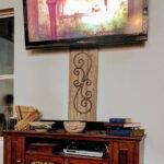 как спрятать провода от телевизора декор идеи