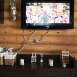 как спрятать провода от телевизора идеи декора