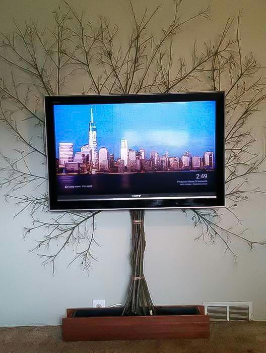 как красиво убрать провода от телевизора фото прошлый
