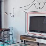 как спрятать провода от телевизора фото дизайн
