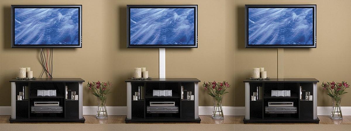 как спрятать провода от телевизора на стене в короб фото