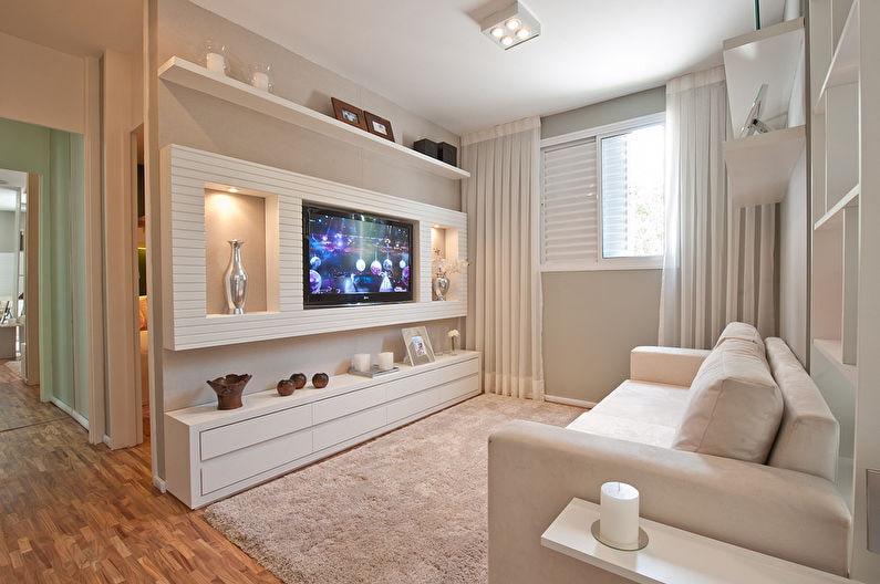как спрятать провода от телевизора на стене в мебель