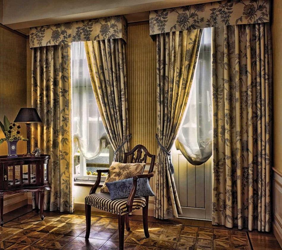 ткань для штор в гостиную