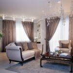 шторы классика в гостиной
