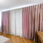 шторы классика розовые