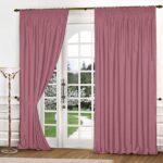 шторы классика розовые на двери