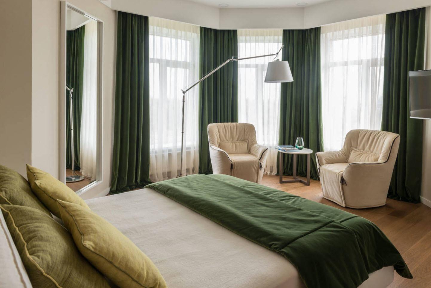 шторы зеленые неоклассика
