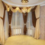 шторы в форме песочных часов для гостиной
