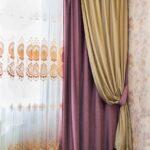 шторы классика фиолетовые