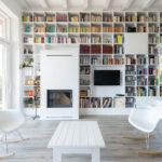 книжный шкаф белый
