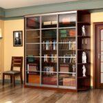 книжный шкаф коричневый