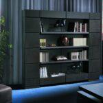 шкаф для книг черный