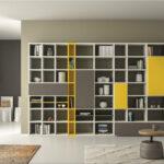 шкаф для книг желтый