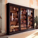 шкаф для книг коричневый