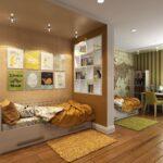 спальня для мальчиков коричневая