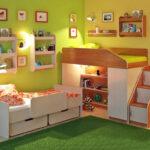спальня для мальчиков зеленая