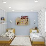 спальня для мальчиков голубая