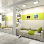 комната для мальчиков зеленая