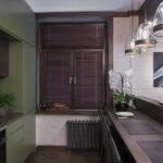 короткие шторы на кухне фото