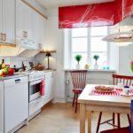 короткие шторы на кухне варианты