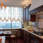 короткие шторы на кухне идеи варианты
