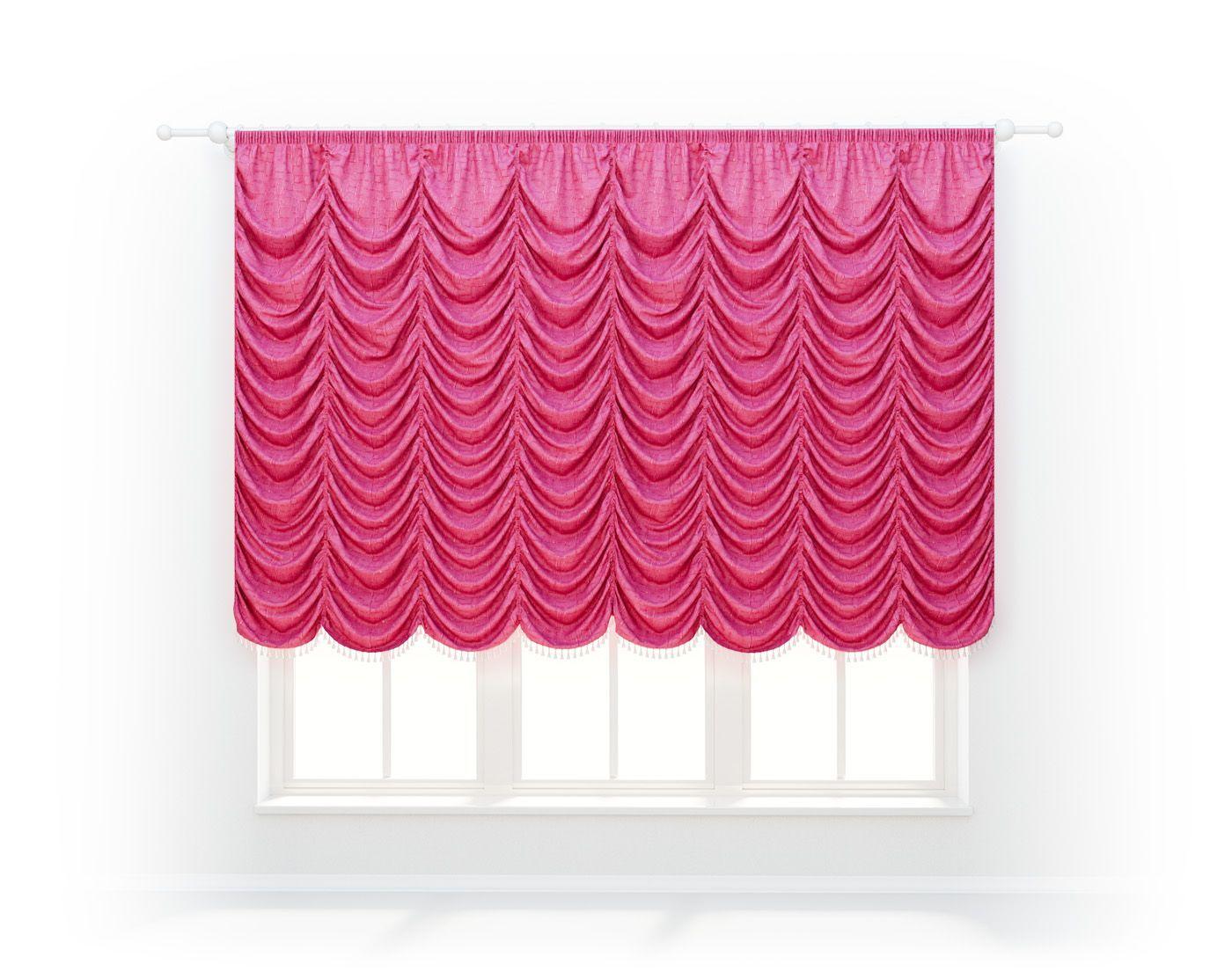 французская штора насыщенного цвета