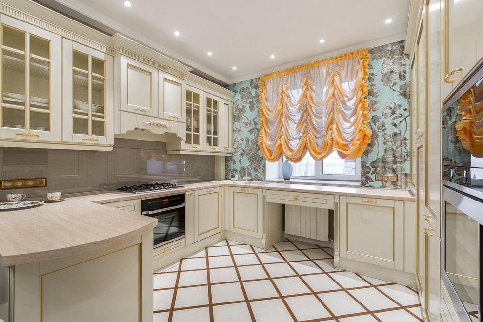 короткие шторы на кухню дизайн
