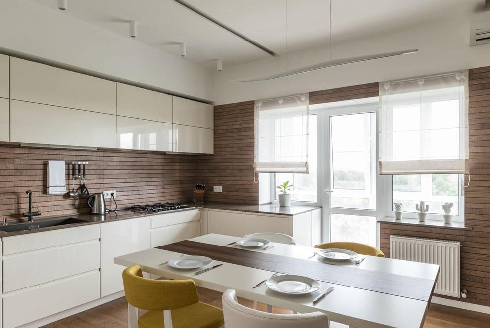 короткие шторы на кухню идеи фото