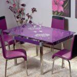 фиолетовый кухонный стол