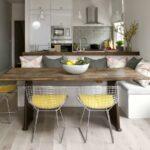 красивые кухонные столы интерьер фото
