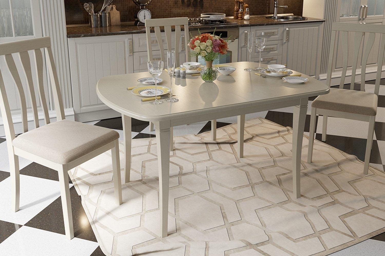 красивые кухонные столы овальные