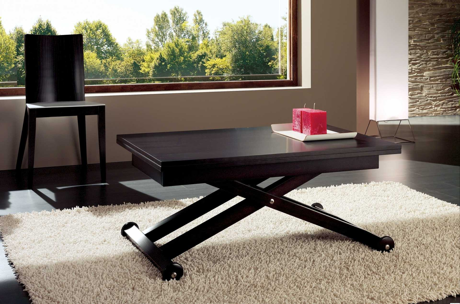 стол трансформер в гостиной фото