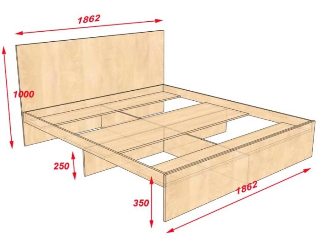 кровать из дсп чертеж