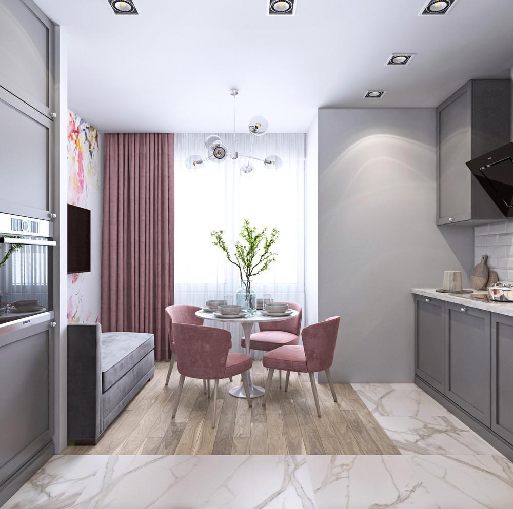 стал фото кухни прямоугольной с балконом когда
