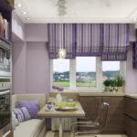 кухня 10 кв метров с диваном интерьер