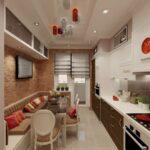 кухня 10 кв метров с диваном интерьер фото