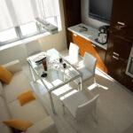 кухня 10 кв метров с диваном фото интерьер