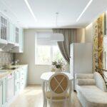 кухня 10 кв метров с диваном фото интерьера