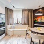 кухня 10 кв метров с диваном оформление фото