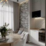 кухня 10 кв метров с диваном фото оформление