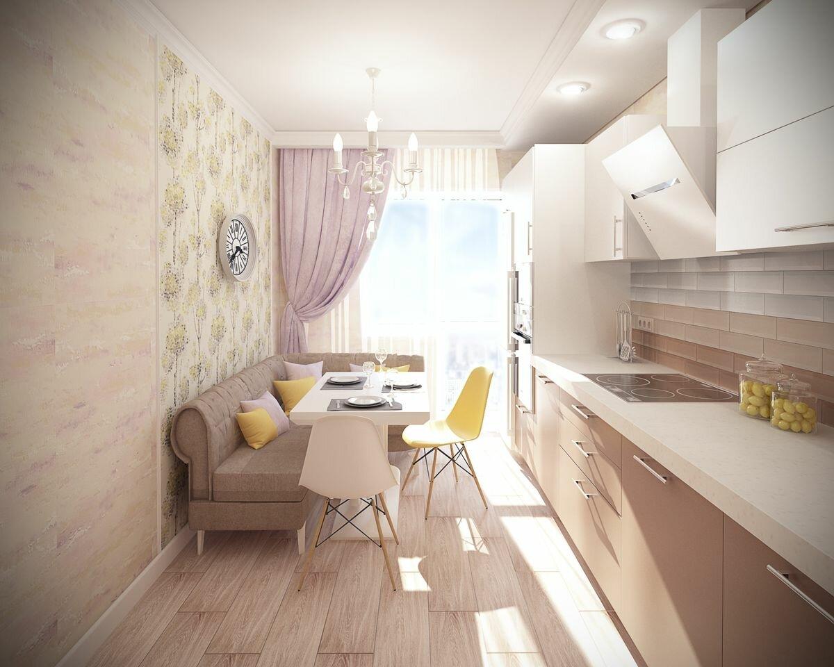 которые фото кухни прямоугольной с балконом того, какие созданы