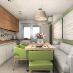 кухня 10 кв метров с диваном варианты