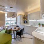 кухня 10 кв метров с диваном виды оформления