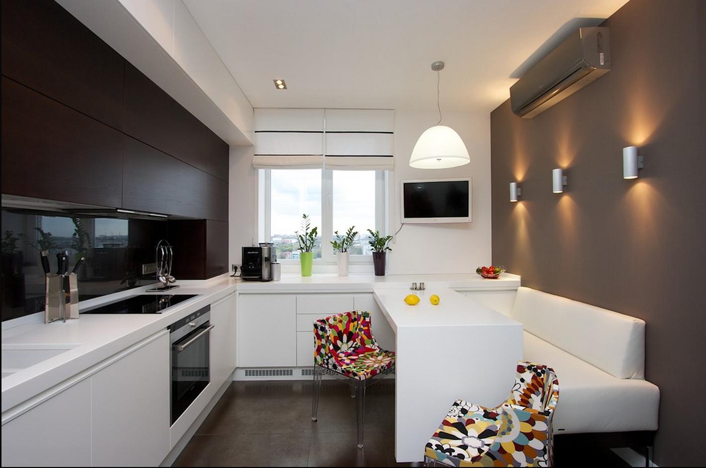 кухня 10 кв м с диваном фото декор