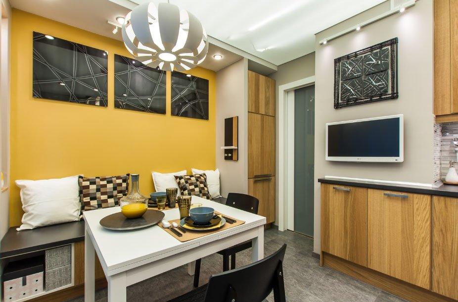 кухня 10 кв м с диваном фото дизайн