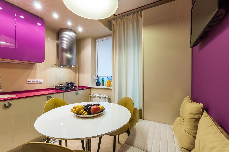 кухня 10 кв м с диваном фото дизайна